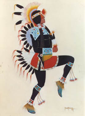 Painting of a Kiowa Dancer