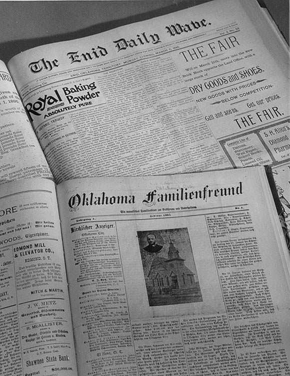 Photograph of newspaper