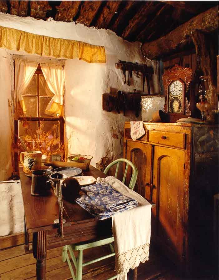 The interior of the Aline sod house