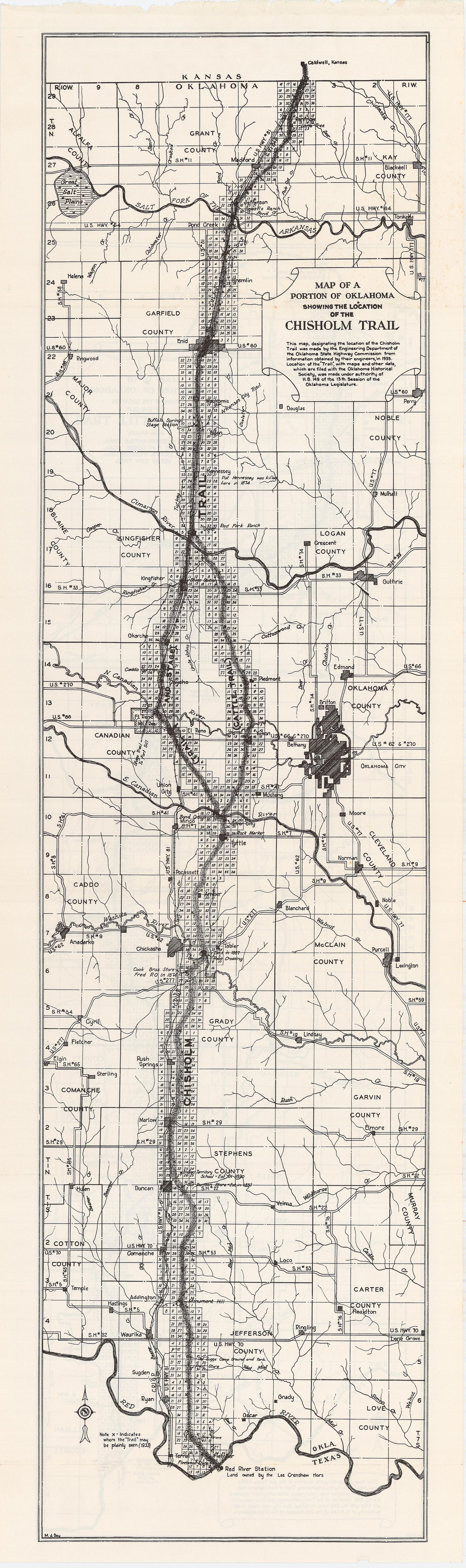 Chisholm Trail The Encyclopedia Of Oklahoma History And Culture