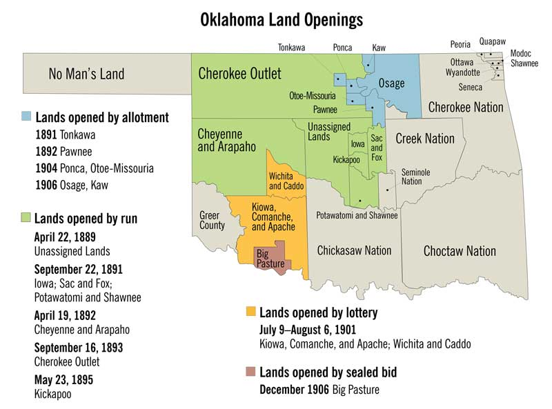 Oklahoma Land Openings Map