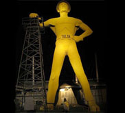 The Golden Driller Statue