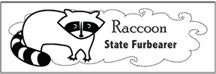 Click to download raccoon bookmark
