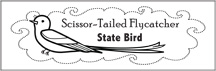 Click to download scissortailed flycatcher bookmark