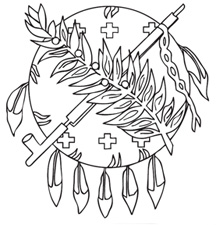 the oklahoma state seal thumbnail image of osage shield coloring page