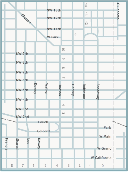 OHS Research Center Oklahoma City Downtown Map - Oklahoma city map