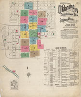 OHS Research Center Map Collections - Oklahoma map with cities