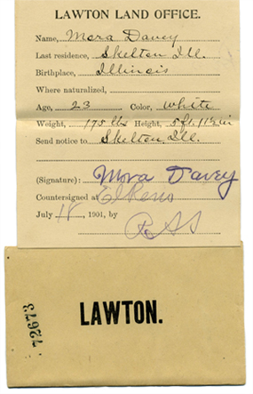 image of land lottery ticket