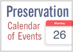 Preservation Calendar of Events