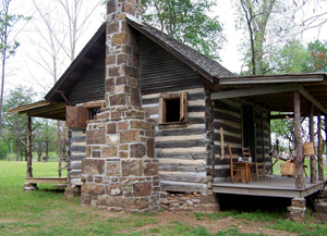 Daniel Cabin on the grounds of the Hunter's Home.