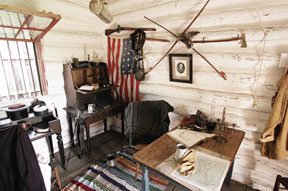 Office Exhibit at Fort Gibson